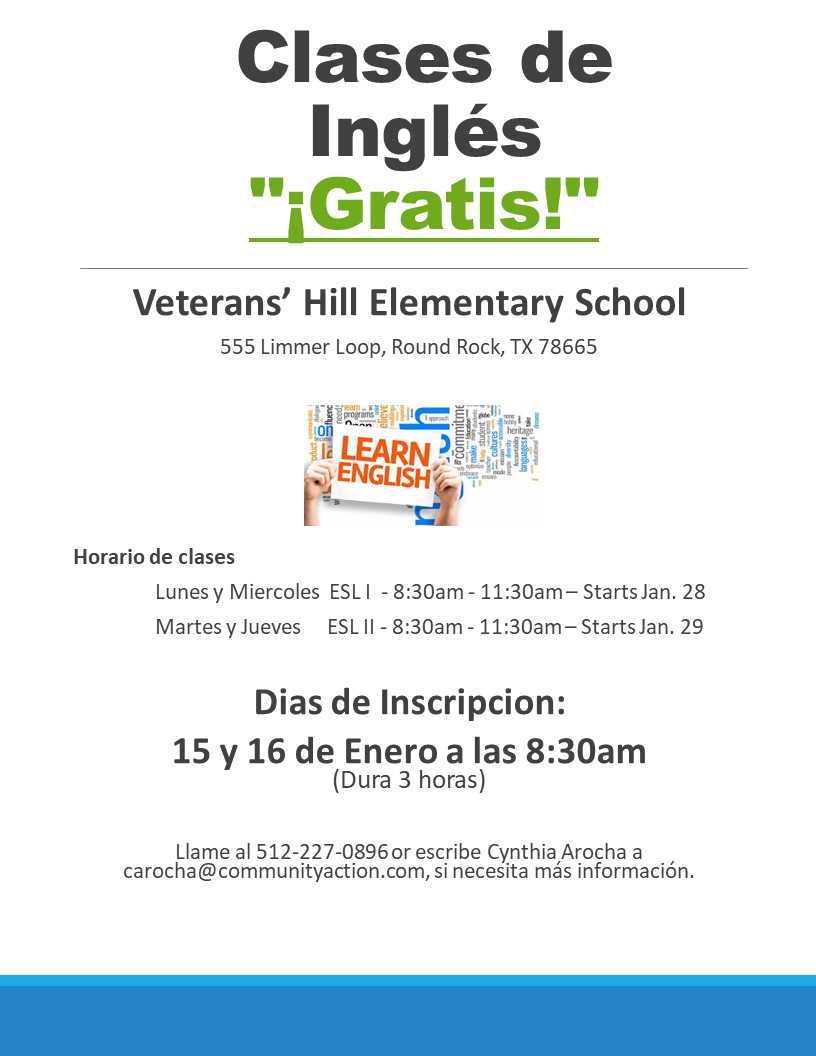 flyer for English classes