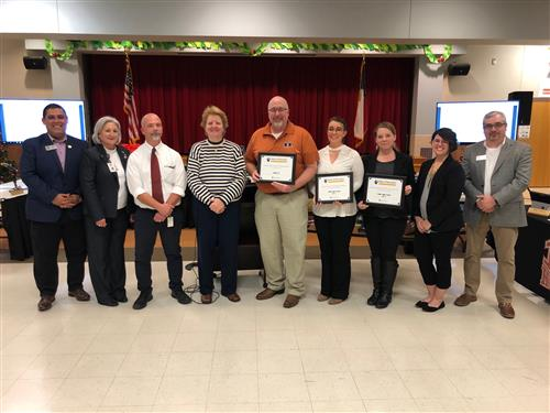 HHS Counselors recognized at Board meeting