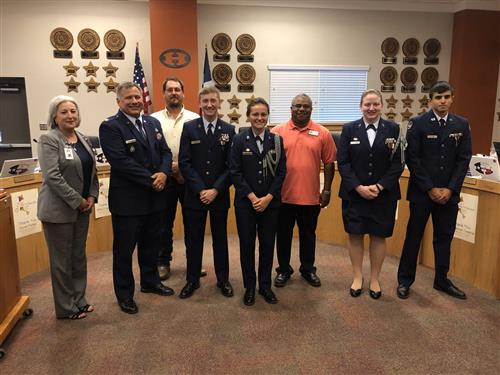 Group photo of JROTC during board meeting