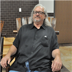 Retiree in rocking chair