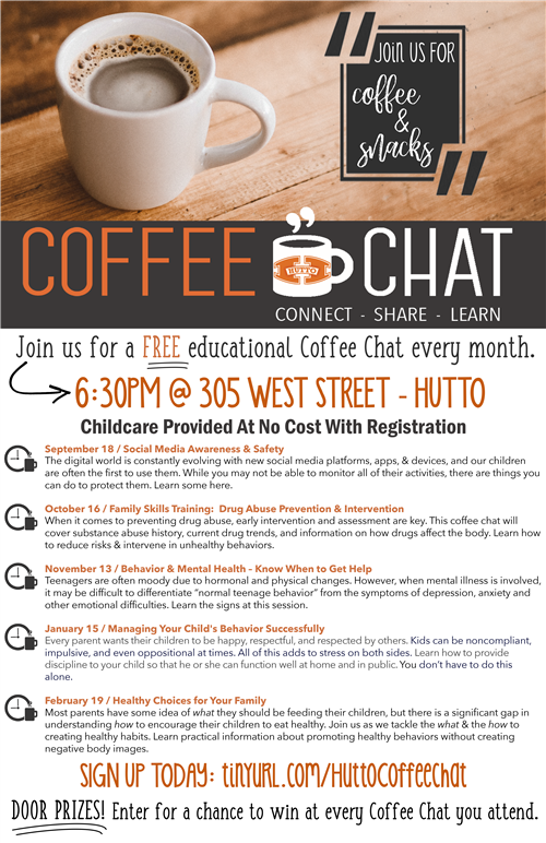 Free Educational Coffee Chats Monthly