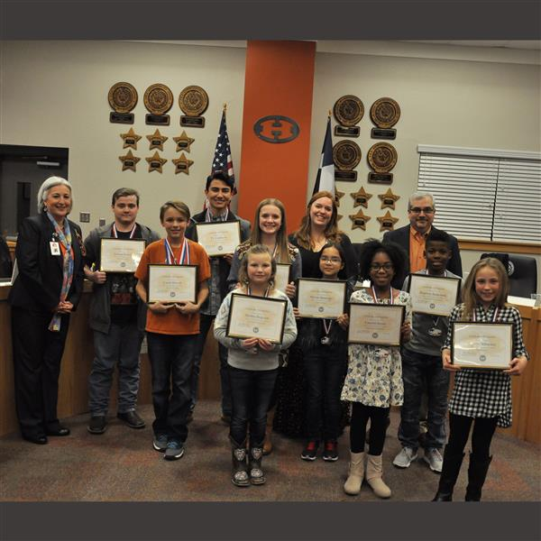 December Hippos of the Month Recognized at January Board Meeting