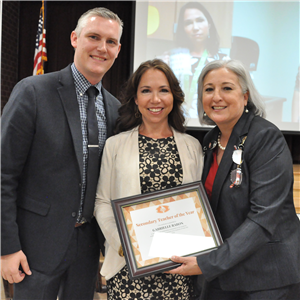 Gabrielle Rabon, secondary teacher of the year