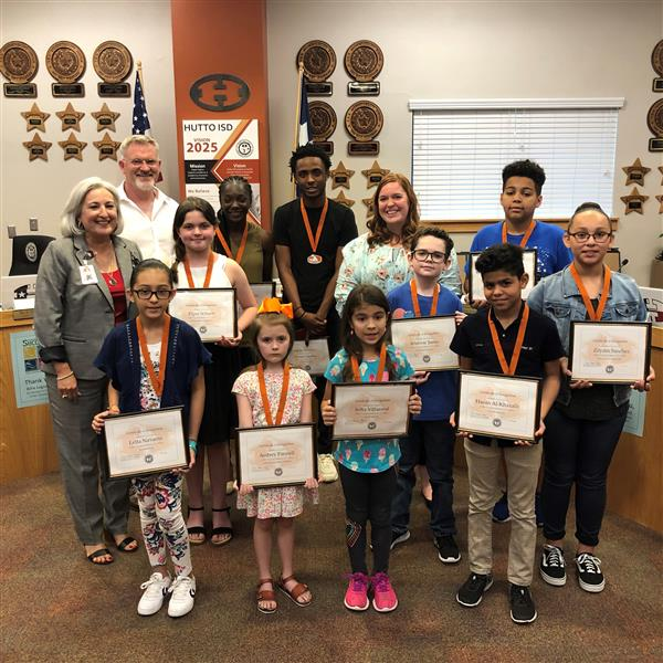 Special Recognitions at May's School Board Meeting