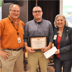 Jonathan Williams, auxiliary staff of the year